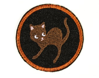 iron-on applique iron-on patches applique patch cat 7cm / size inches  2.76