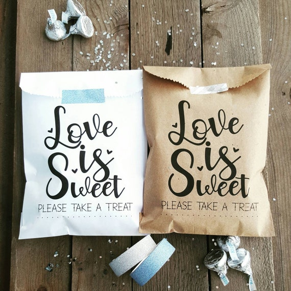 Wedding Gift Bags Etsy : Favor Bags - Wedding Favor Bags - Treat Bags - Love is Sweet ...