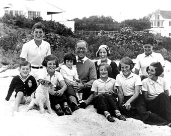 The Kennedy family at Hyannis Port, Massachusetts, in 1931