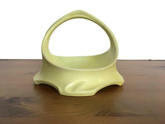 Limoges porcelain basket yellow bowl JPL Jean Pouyat made in France