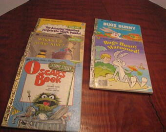 5 Vintage Little Golden Books (b)