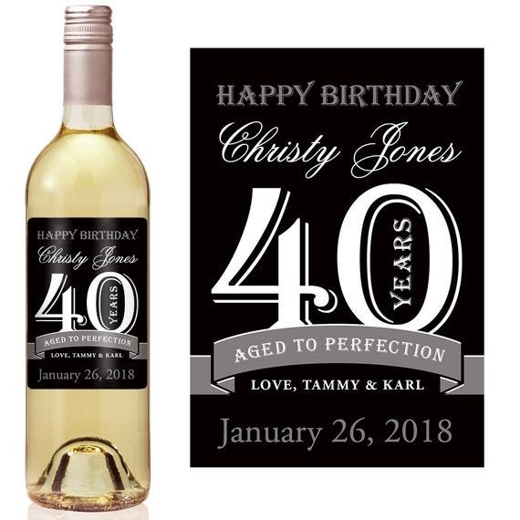 Conosciuto 40 compleanno vino etichetta personalizzata etichetta VB79