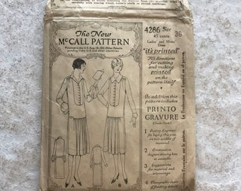 1920's  McCall Pattern Ladies' and Misses' Flapper Dress 4286