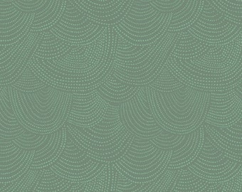 1/2 yard PERCH by Rae Ritchie for Dear Stella Scallop Dot Teal