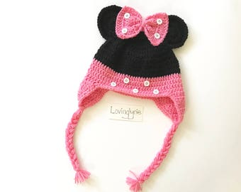 Minnie Mouse hat / Minnie Mouse / baby gift / minnie mouse beanie/ photoptop
