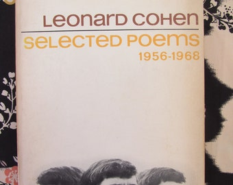 Leonard Cohen/Selected Poems 1956-1968 (1st Ed., 3rd Printing/Viking)