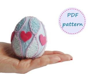 Felt Egg, Egg Pattern, Felt Pattern, Easter Egg, Felt Easter Egg, Easter Egg Ornament, Easter Ornament, Felt Ornament Pattern, Felt Patterns