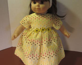 Yellow dotted Bitty Baby dress