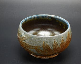 Carved Sunflower Bowl - Ceramic Bowl - Soda Fired Pottery