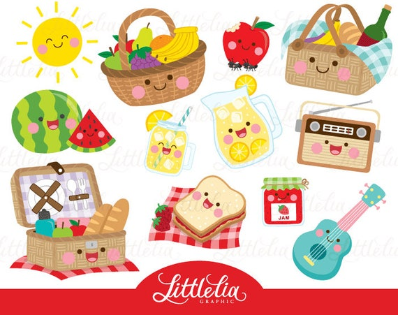 Picnic Kawaii Clipart Summer Clipart Summer Picnic 17021