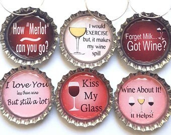 Funny Wine Charms Wine Glass CharmsWine Gift
