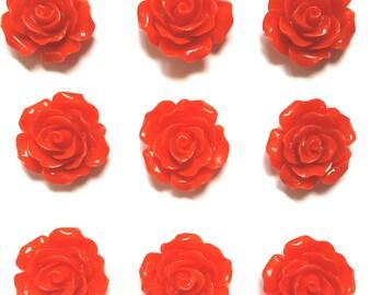 Red Rose Push Pin Thumb Tack Gift Hostess Gift Office Gift Wedding Shower Dorm Decor Teacher Gift