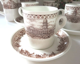 Wedgwood vintage coffee cup and saucer, Espresso cup, Demitasse, Coffee