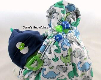 Stork bundle baby | Boy diaper cake | Stork bundle | Dinosaur diaper cake | Baby shower gift | Unique baby gift | Baby sprinkle gift