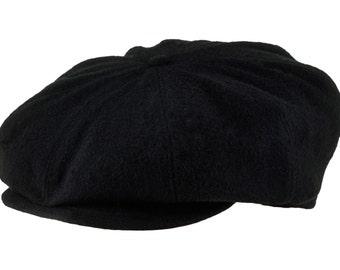 Peaky Blinders cap made of pure wool - black