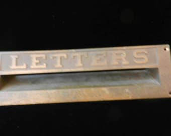 Solid Brass Letter Slot for a Door- Quite Heavy