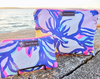Lilly Pulitzer Print Waterproof Makeup and Travel Bag {COUTURE LINE}