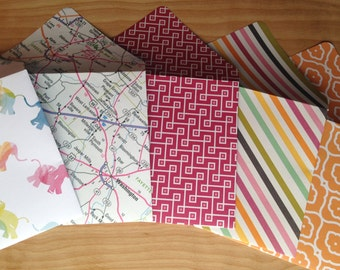 Handmade Envelopes, A2 Envelopes, Rainbow, Elephant, Cheerful Travel, Stationery, Envelope Set