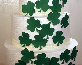 Wedding Cake Toppers Edible Shamrocks Decorations Set Of 24 DIY Decor