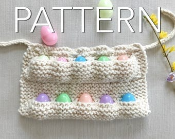 SALE! Child's Knit Egg Collecting Apron Pattern // Egg Apron //  Knitting Pattern // Beginner's Pattern // Simply Maggie