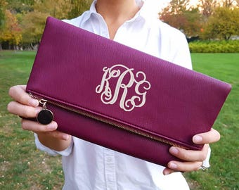 Monogrammed Clutch Purse | Envelope Clutch Purse | Bridesmaid Gift | Mother's Day Gift