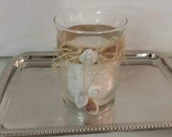 Hand-Painted Glass Candleholder Votive