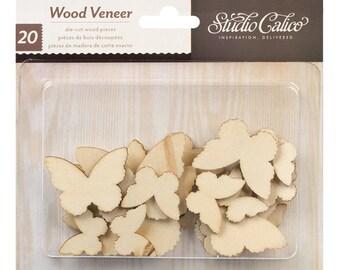CLEARANCE! Studio Calico Wood Veneer Shapes Butterflies