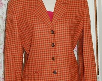 Vintage Burberry's of London blazer jacket. Size 10
