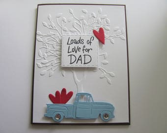 Father's Day Truck Card, Truck Cards, Cards for Him, Masculine  Card, Load of Love Truck Cards,Gifts for Dad, Embossed Cards, Truck Card