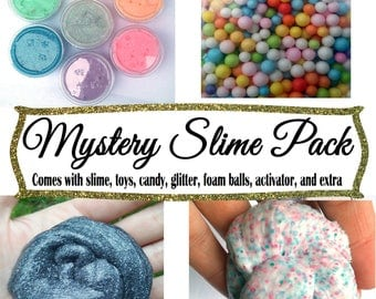Mystery Slime Package Surprise Extras Foam Gift Box Birthday Gag Gift Slime bundle party favor birthday gift stress relief kid fun gift
