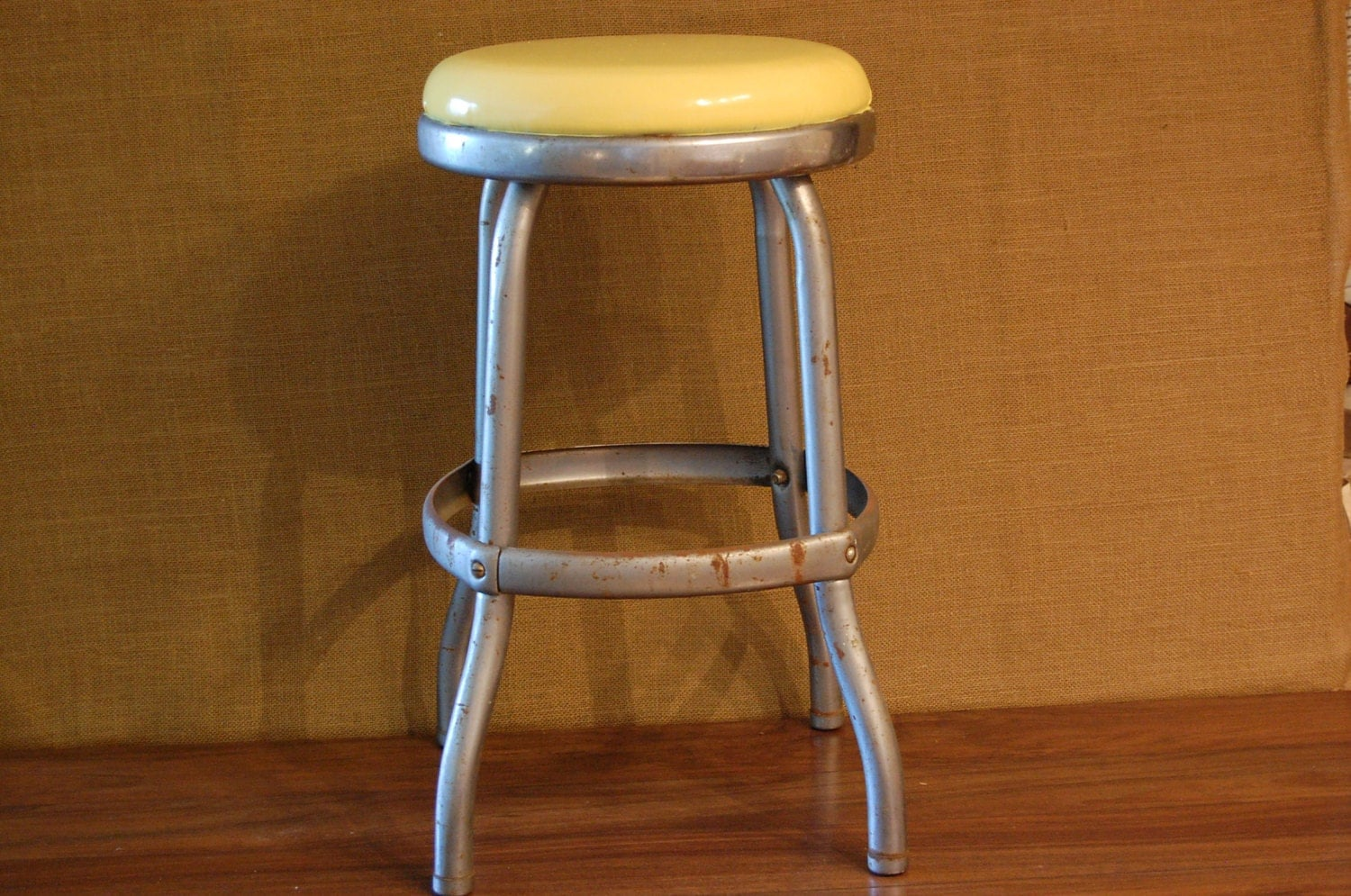 Vintage Yellow Cosco Stool kitchen stool vintage farmhouse