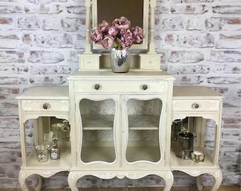 Chiffonier, Dresser, Dressing Table, Sideboard, cream