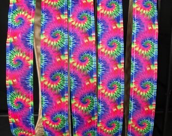 Hippie Chick Tie-dyed Blitzy Band, Non-SLIP Adjustable Headband, Nonslip headband, non slip headband, no slip headband