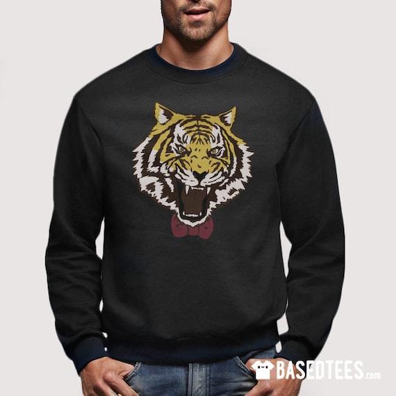 Yuri Tiger with bowtie sweatshirt