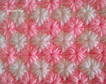 Crochet Baby Blanket  PATTERN 809 zig zag STAR Tutorial  Instant Download / PATTERN 809/ Blanket Baby Crochet Patterns zig zag