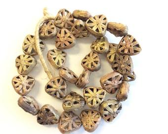 Africa authentic handmade brass trade beads