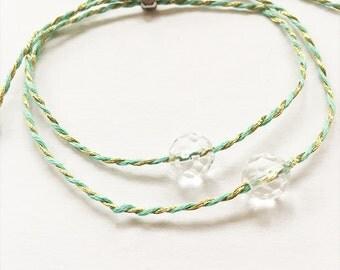Clear Quartz Crystal Friendship Bracelets