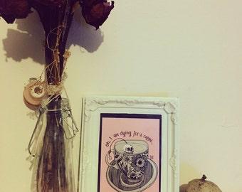 Skull teacup print