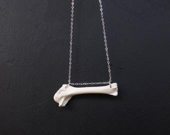 Bird Bone Necklace Sterling Silver - Bone Jewelry