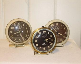 Trio of Westclox Big Ben Alarm Clocks