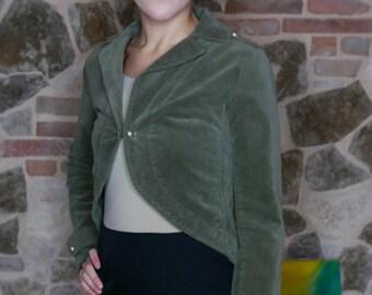 Vintage Green Velvet Blazer jacket size 40/42 vintage button