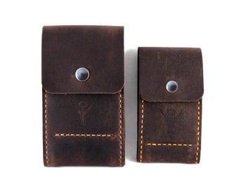 Handmade Leather Belt Pouch, Phone Case, Belt Phone Case, Hands Free Case, Leather Belt Pouch, iPhone Pouch