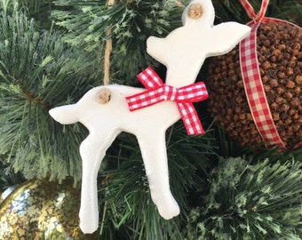 Little Fawn Decoration, woodland christmas, rustic decoration