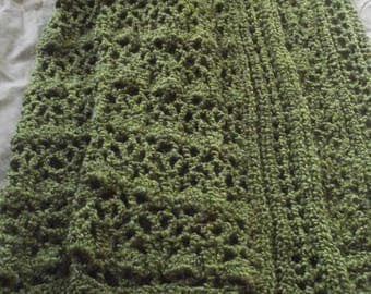 Apple Green Afghan with Border