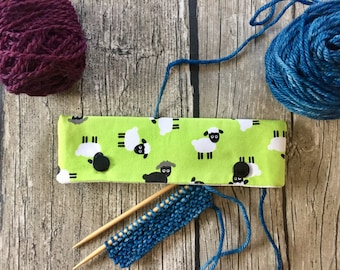 Black Sheep of the Family -- DPN Cozy for 6 or 5 inch Needles -- Knitting Needle Holder -- DPN WIP Keeper -- Sock Cozy