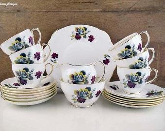 Vintage Duchess Bone China England Pattern 828 Rose Design Classical Retro English Bone Chinaware Tea set
