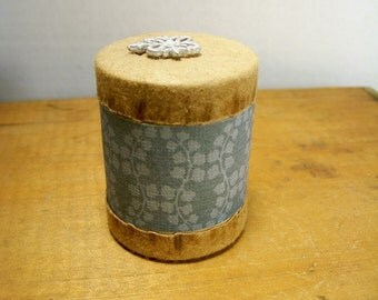 Paper Storage Container Made From Recycled Items Small Round