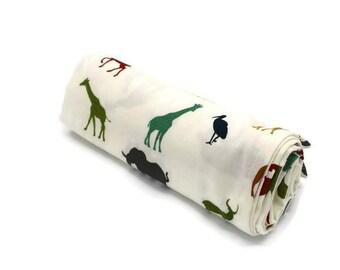 Organic Receiving Blanket, Organic Swaddle Blanket, Organic Baby Gift, Double Gauze Blanket