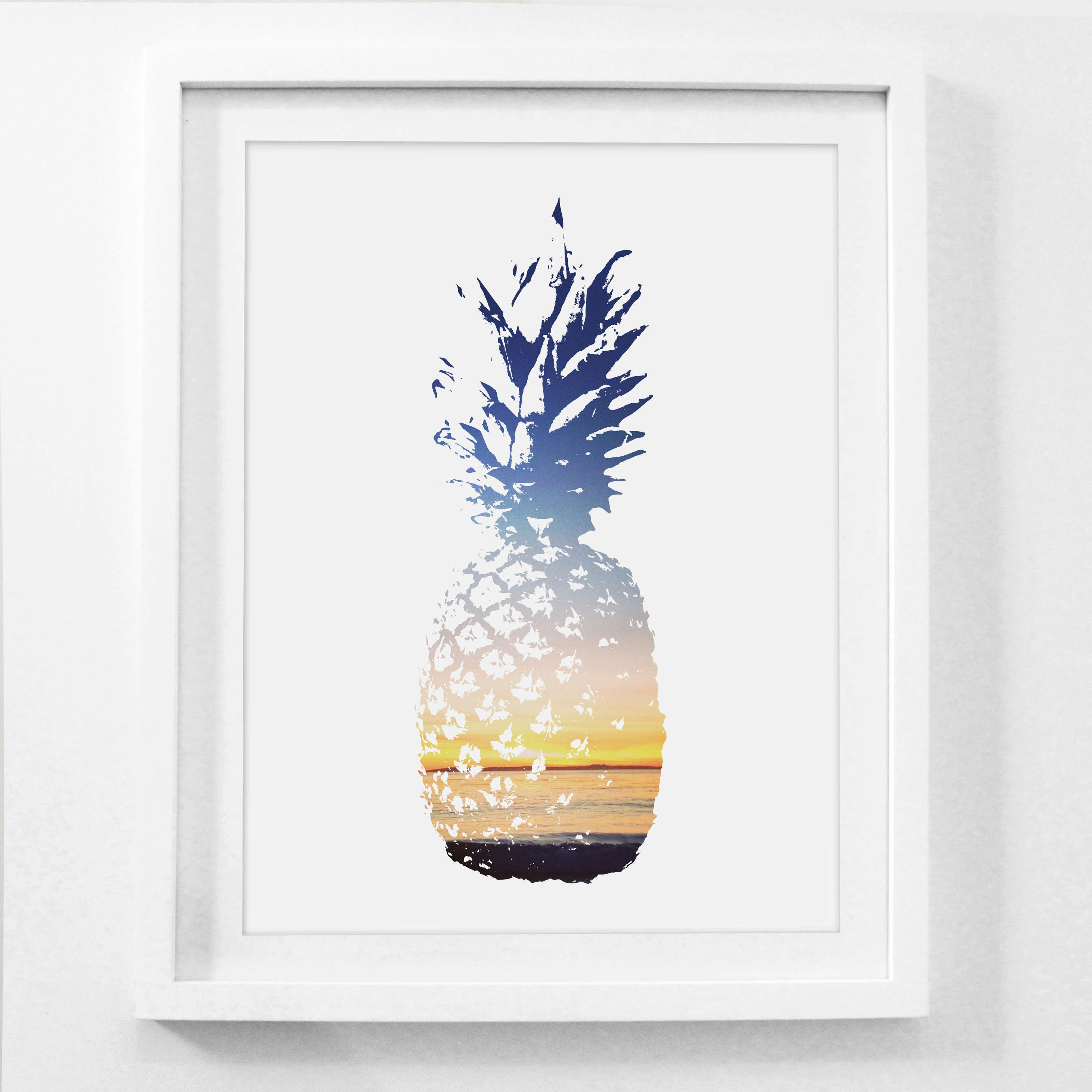 8x10 and 5x7 collage frame - Pineapple Print Pineapple Art 8x10 Print 11x14 Art Pineapple Art Print Pineapple Decor Wall Print Framed Art 5x7 Print 5x7 Art 4x6