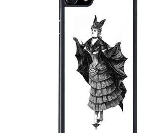 Bat Costume Lady Phone Case, Girl, Spooky, iPhone 5 5s 6 6s 6+ 6s+ SE 7 7+ iPod 5 6 Case, Plus
